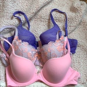Body by Victoria lined Demi bundle. 36b